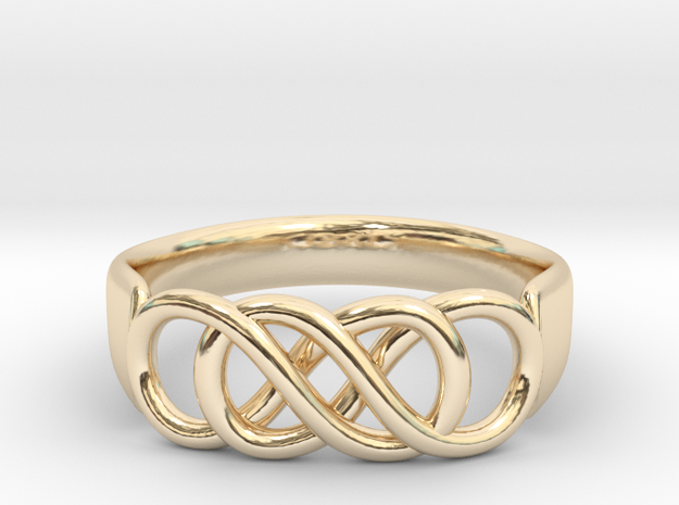 Double Infinity Ring 14.5mm Size3-0.5 in 14K Gold