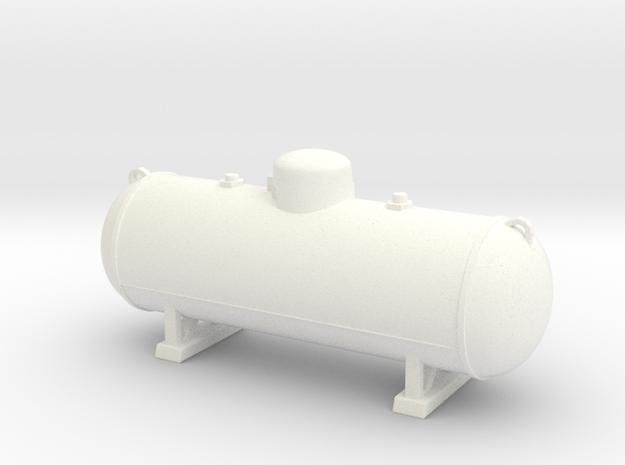 Propane tank 500 gallon. 1:24 Scale  in White Processed Versatile Plastic
