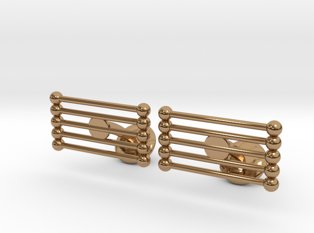 Pin Cufflinks in Polished Brass