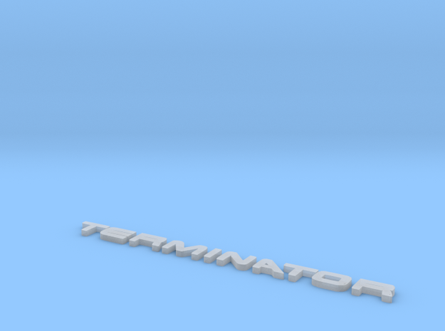 Terminator Letters 3d printed