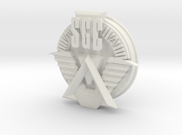 SGC logo. All materials in White Natural Versatile Plastic