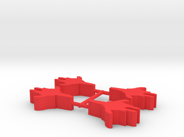 Game Piece, Calibration Confed Cruiser, 4-set in Red Processed Versatile Plastic