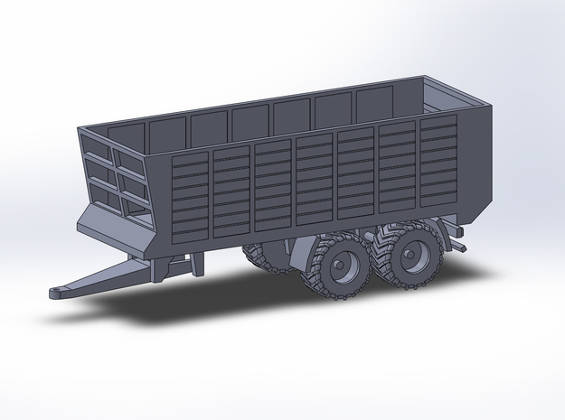 1:160/N-Scale Silage Trailer 2 in Smooth Fine Detail Plastic