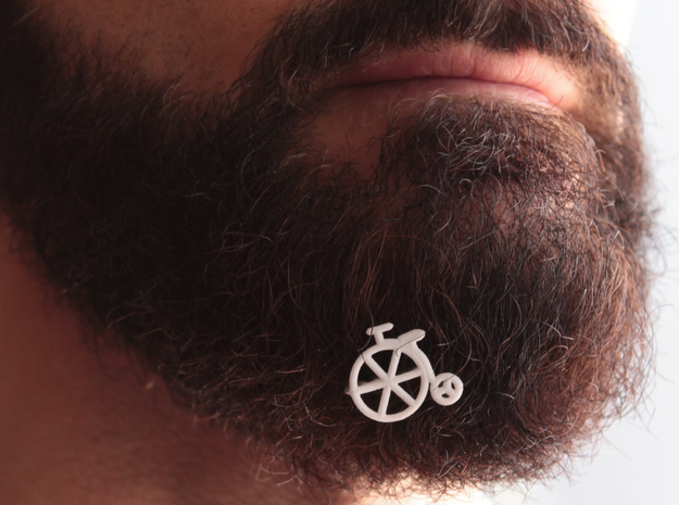 Old bike for beard - front wearing in White Natural Versatile Plastic