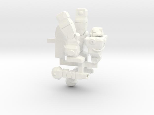 Raider Posable on Sprue in White Processed Versatile Plastic