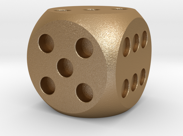 Dice V1.0 in Matte Gold Steel