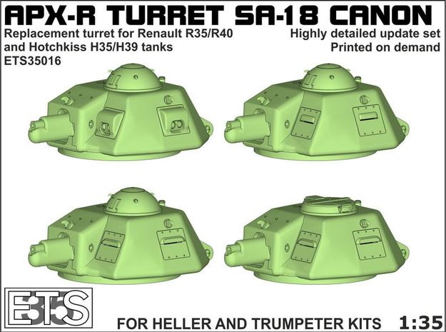 ETS35016 - APX-R turret with SA18 gun [1:35] in Frosted Ultra Detail