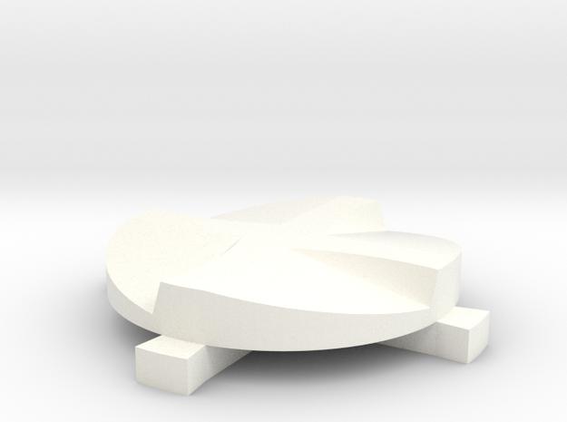 Coffee Distributor, 53mm in White Processed Versatile Plastic