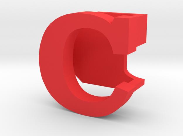 BandBit C1 for Fitbit Flex in Red Processed Versatile Plastic