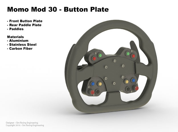 Mod30 Button Plate Enclosure in Black Natural Versatile Plastic