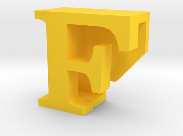 BandBit F, Fitbit Flex (Fits parallel to strap.) in Yellow Processed Versatile Plastic