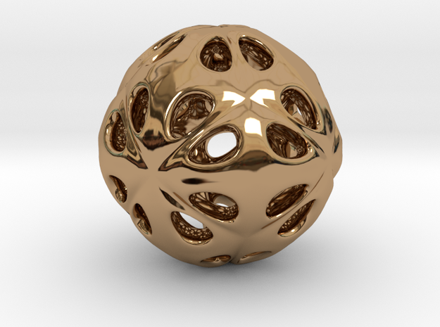 hydrangea ball 07 in Polished Brass