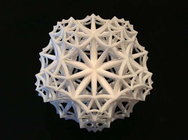 {3,5,3} H³ Honeycomb in White Natural Versatile Plastic