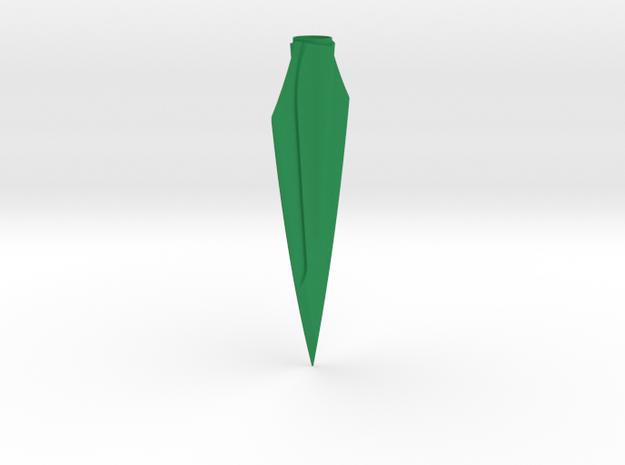 "ARROW - Zwickey Eskimo (1/4"" Tapered Hole) in Green Processed Versatile Plastic"