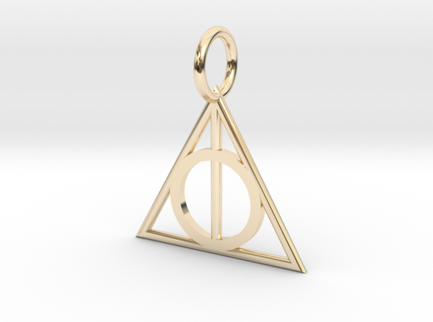 Deathly Hallows Charm in 14k Gold Plated