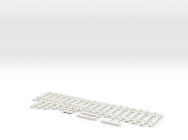 NSWGR Std 1936 Catch Point LH HO in White Natural Versatile Plastic