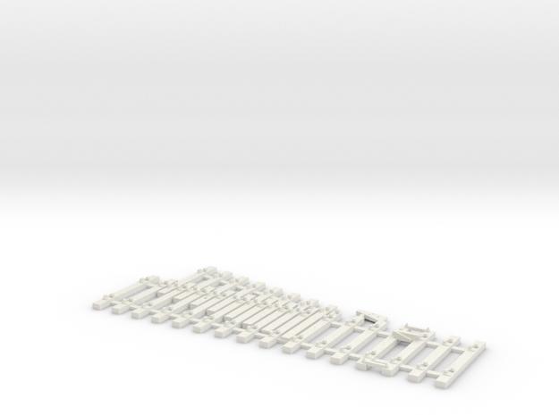 NSWGR Std 1924 Derail RH HO in White Natural Versatile Plastic