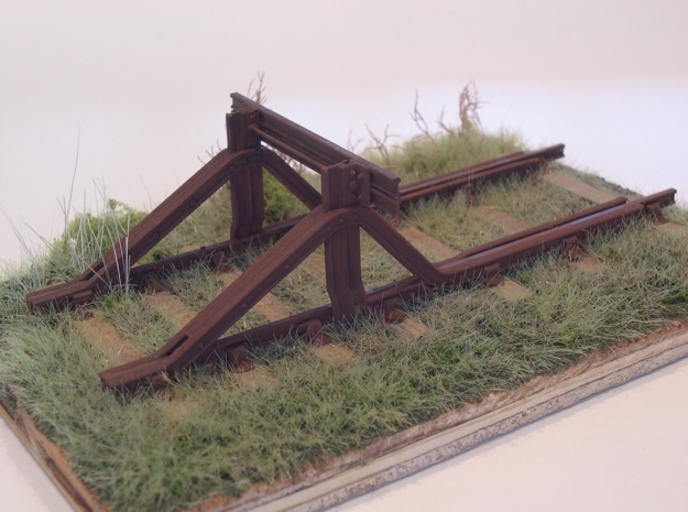 GWR Buffer Stop in White Natural Versatile Plastic