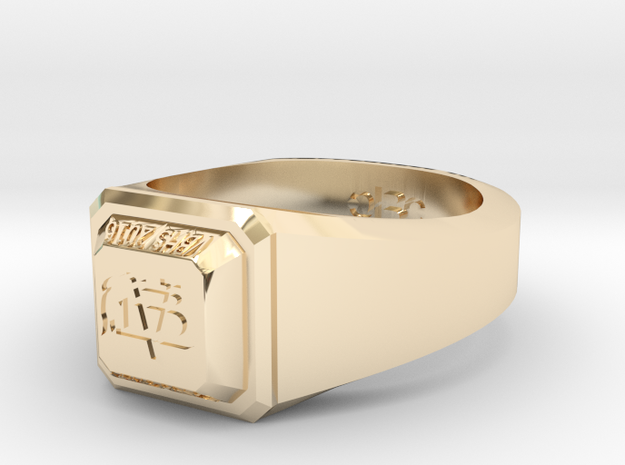 ClassRing8 in 14k Gold Plated Brass