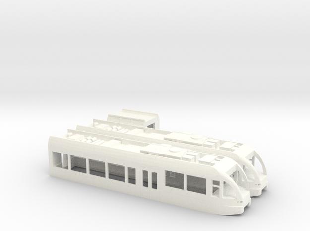 SBB BLS THURBO GTW Zweiteilig Scale TT Version2 Lo in White Processed Versatile Plastic: 1:120