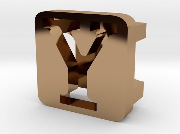 BandBit Y2 for Fitbit Flex in Polished Brass
