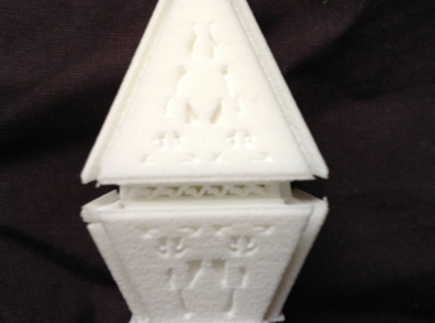 Diamond 3d printed An unpainted example