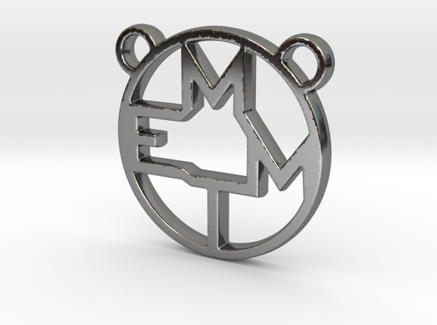 MEMT MONOGRAM in Fine Detail Polished Silver