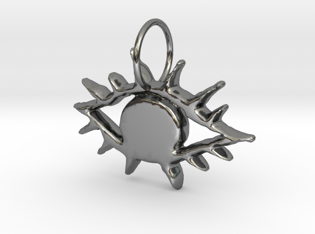 Eye Rays in Fine Detail Polished Silver