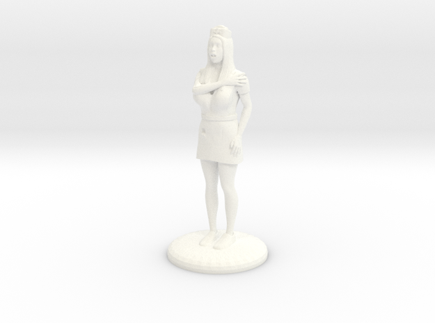 Terrrified Nurse 28 mm in White Strong & Flexible Polished