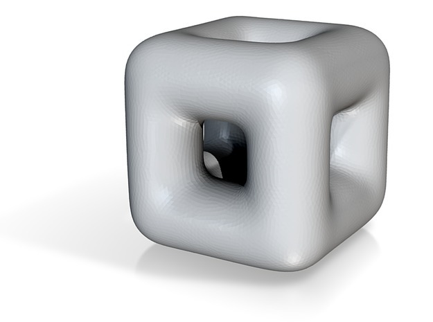 DRAW geo - cube in White Strong & Flexible