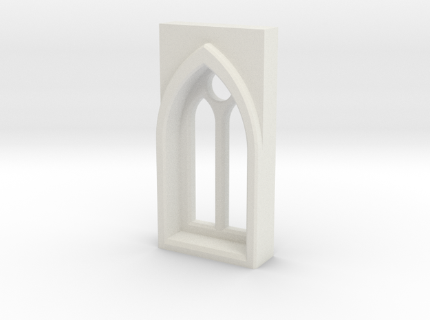 building details serie - Gothic Window 5mm Type 1 in White Strong & Flexible