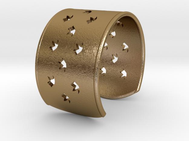 Bird Bracelet Medium Ø2.48 inch/Ø63 mm in Polished Gold Steel