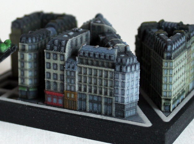 Paris Shopping Block B (5x4) in Full Color Sandstone