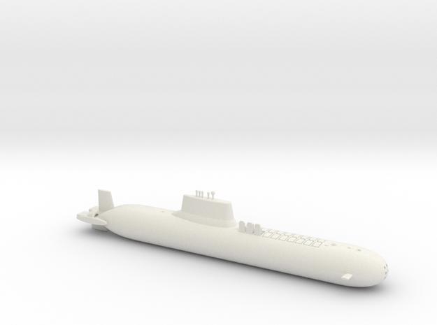 1/600 Typhoon Class SSBN in White Natural Versatile Plastic