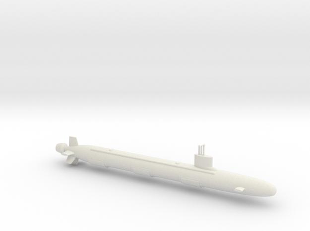 1/600 Virginia Class Submarine in White Natural Versatile Plastic