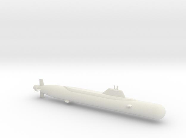 1/600 Yasen Class Submarine in White Natural Versatile Plastic