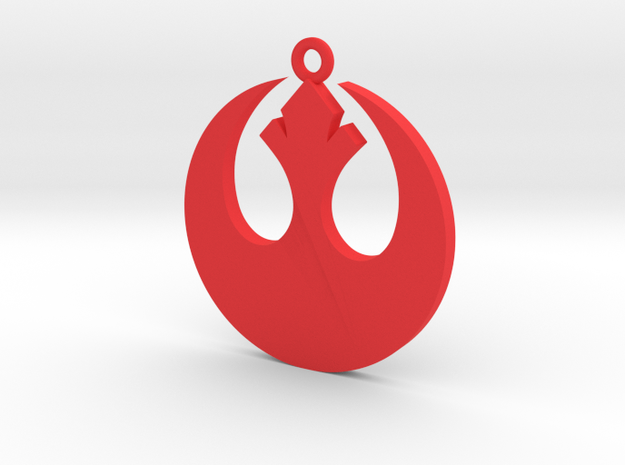Star Wars Rebel Alliance Charm in Red Processed Versatile Plastic