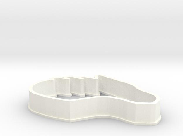 Dragon-Horse Cookie Cutter in White Processed Versatile Plastic