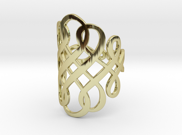 Celtic Knot Ring Size 11 in 18k Gold Plated Brass
