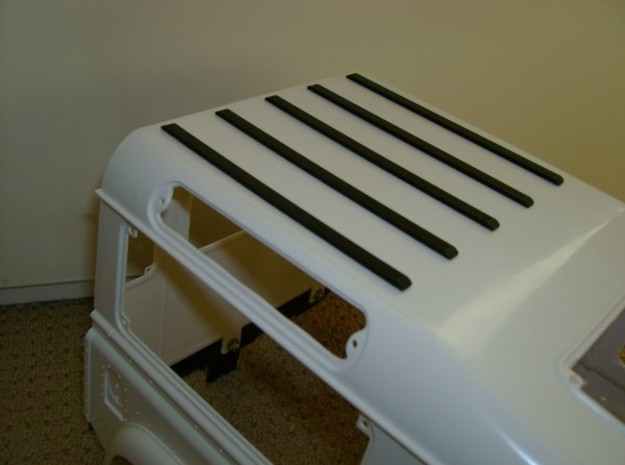 Roof Ledge D90 Gelande 1:10 in White Processed Versatile Plastic