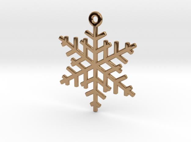Flake Keychain in Polished Brass