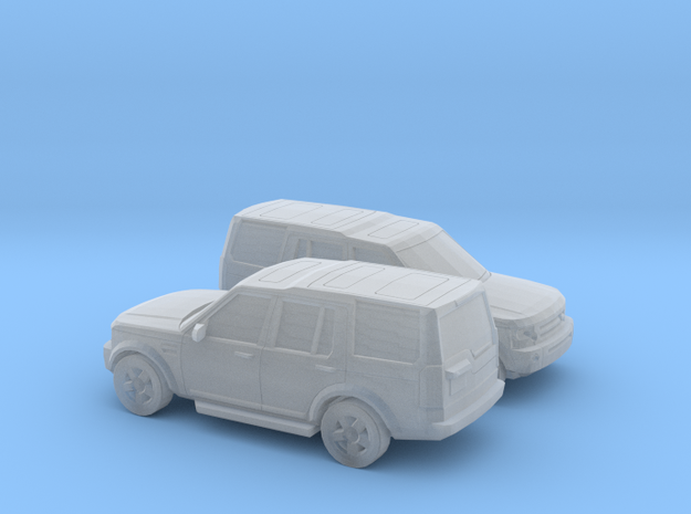 1/148 2X 2004-09 Land Rover Discovery in Smooth Fine Detail Plastic