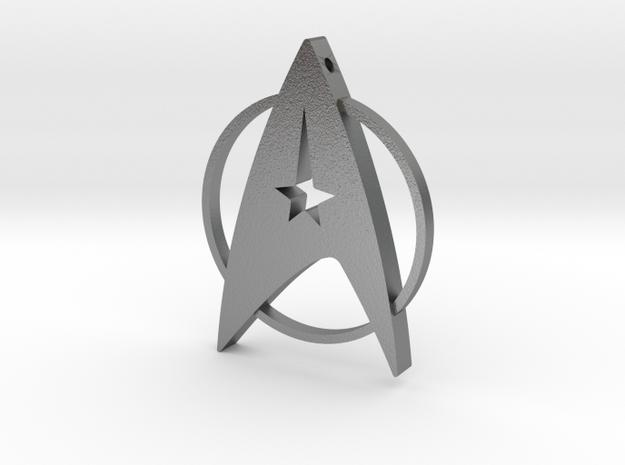 Star Trek Pendant in Raw Silver