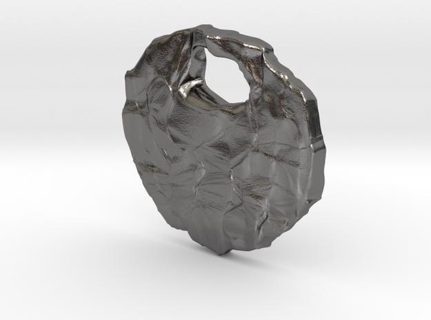 Rocky pendant in Polished Nickel Steel
