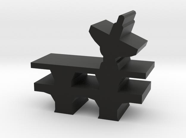 Game Piece, Landing Pad Base in Black Natural Versatile Plastic