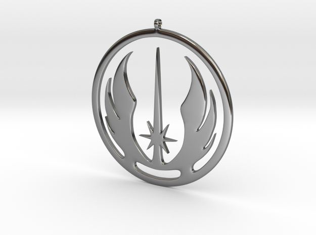 Symbol of the Jedi Order in Fine Detail Polished Silver
