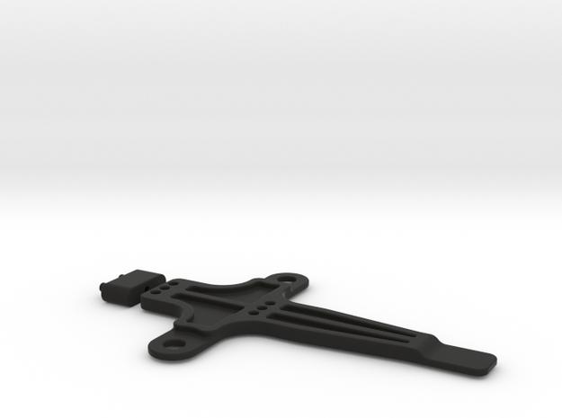 Battery Brace in Black Natural Versatile Plastic