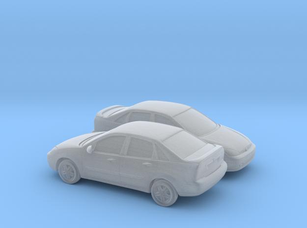 1/160 2X  2000-04 Ford Focus Sedan in Smooth Fine Detail Plastic