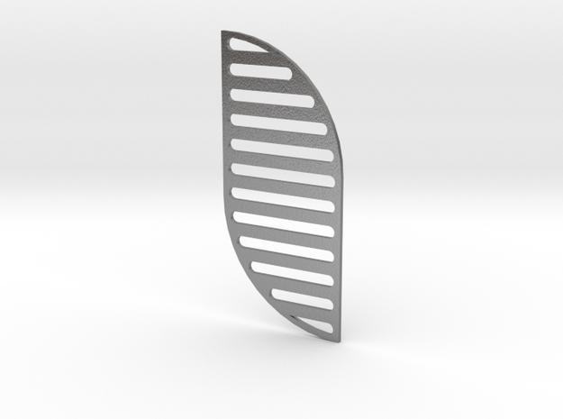 16x36x9-helix in Raw Silver