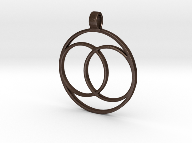 [The 100] (Small) Coalition Symbol Pendant in Matte Bronze Steel